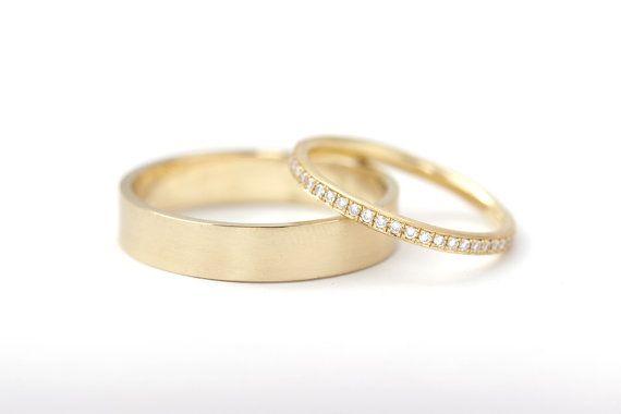 Simple Men Band Basic Men Wedding Ring Smooth Wedding Band Flat Style Band 18k Wedding Ring Classic Gold Wedding Ring Mens Wedding Rings Gold Cool Wedding Rings Mens Wedding Rings