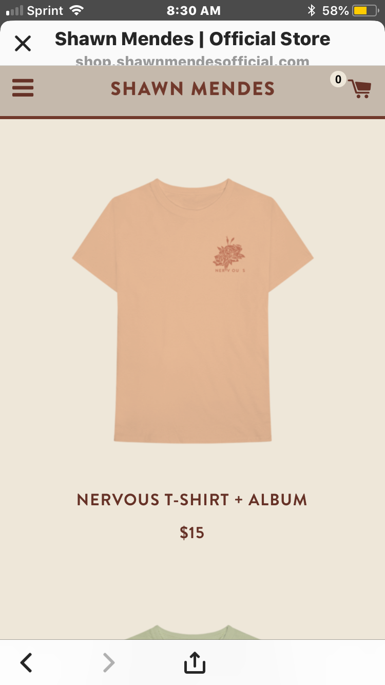 38f32a74 shawn mendes merchandise #nervous #shawnmendes #shawnmendesmerch ...