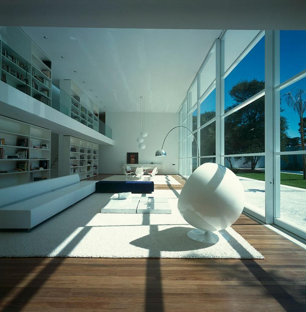 Modern Living Area White Interior Color Themes With Modern Living