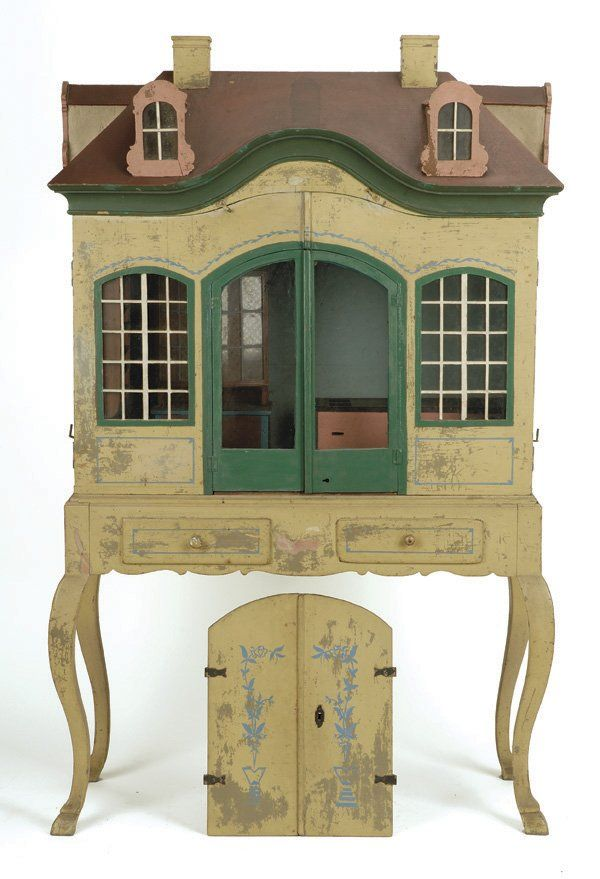 antique doll's house I like the idea of attaching a dollhouse to an