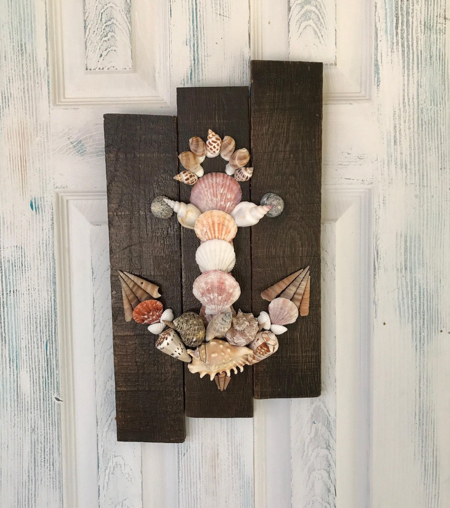 Seashell Anchor Wall Decor By Sadimaedesigns On Etsy