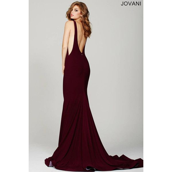 Burgundy Low Back Prom Dress 37592 ❤ liked on Polyvore featuring dresses, gowns, high neck gown, burgundy evening gown, high neck dress, prom dresses and burgundy dress
