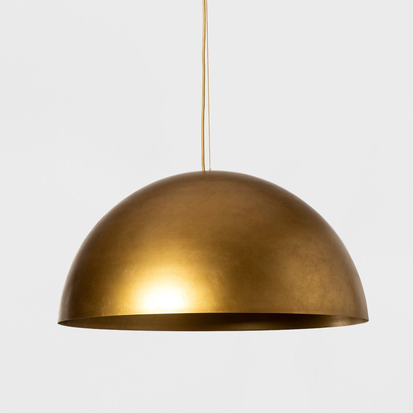 Metal Dome Extra Large Pendant Lamp Gold Includes Energy Efficient Light Bulb Project Dome Pendant Lighting Pendant Lighting Dining Room Large Pendant Lamp Extra large pendant lighting