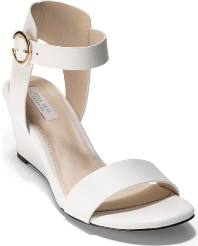 f0cf84b46f8 Cole Haan Rosalind Wedge Sandal in White. Bold color blocking adds  contemporary-chic style to a sleek wedge sandal. Cole Haan s innovative  Grand.