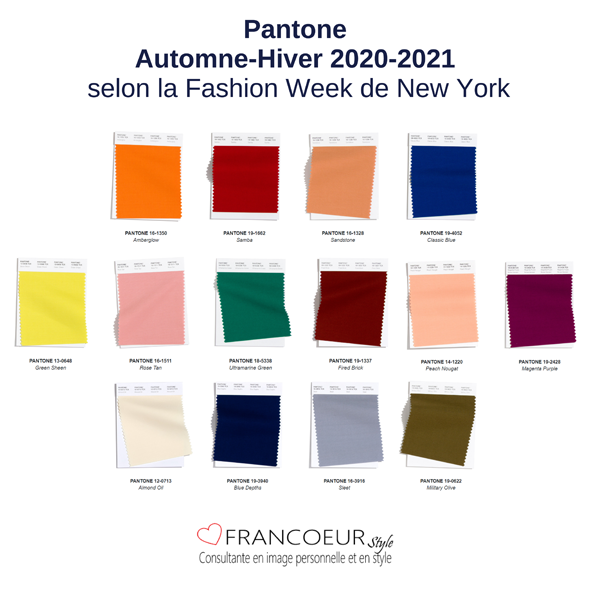 Les Couleurs Pantone Automne Hiver 2020 2021 Francoeur Style In 2020 Color Trends Fashion La Fashion Week Fashion