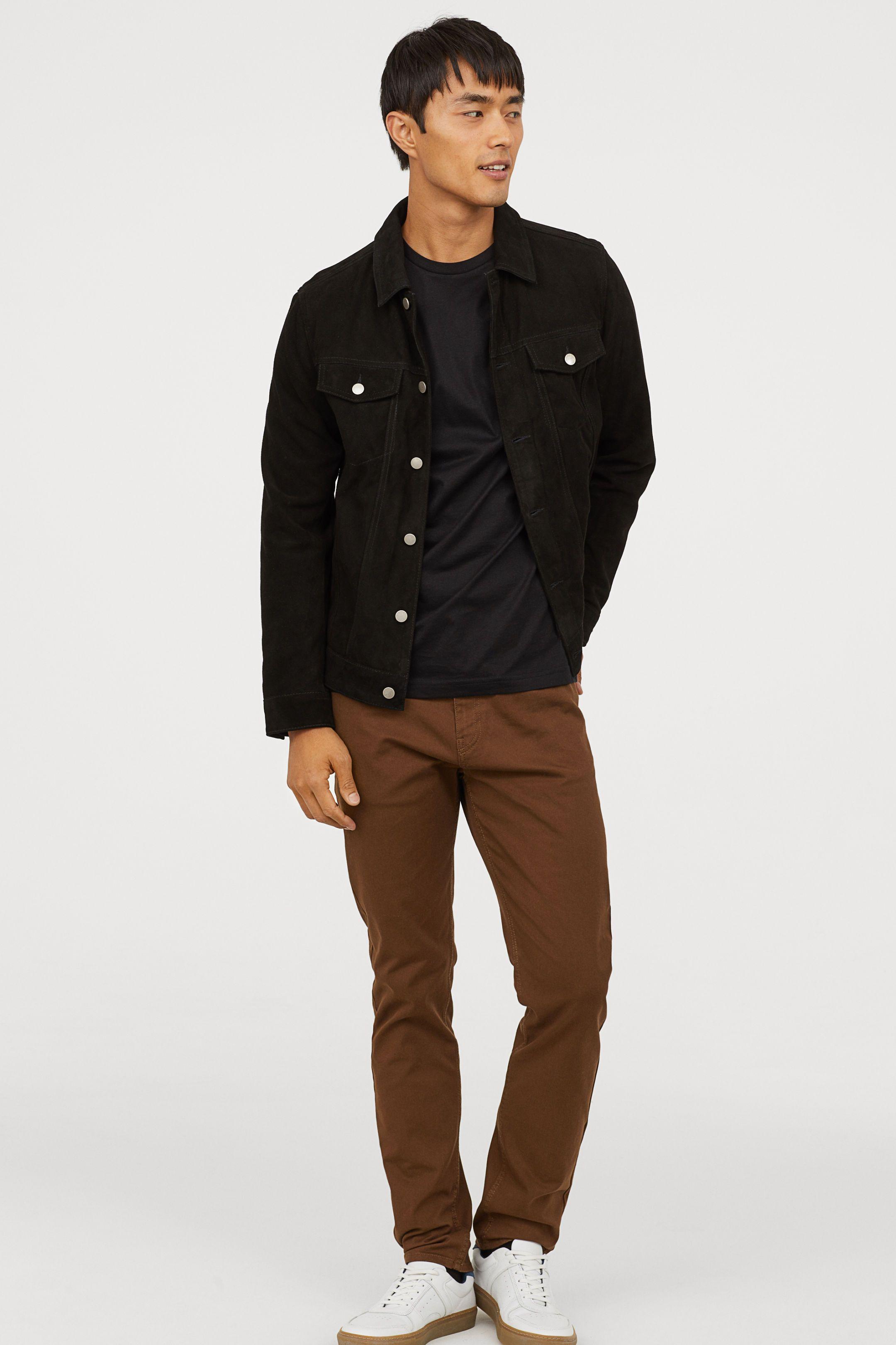 slim fit dress pants men's h&m