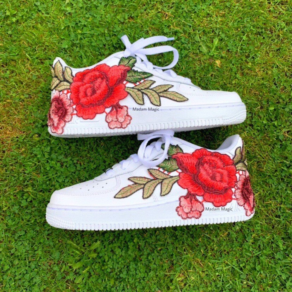Custom Nike Air Force 1 Low Embroidered Rose Air Force