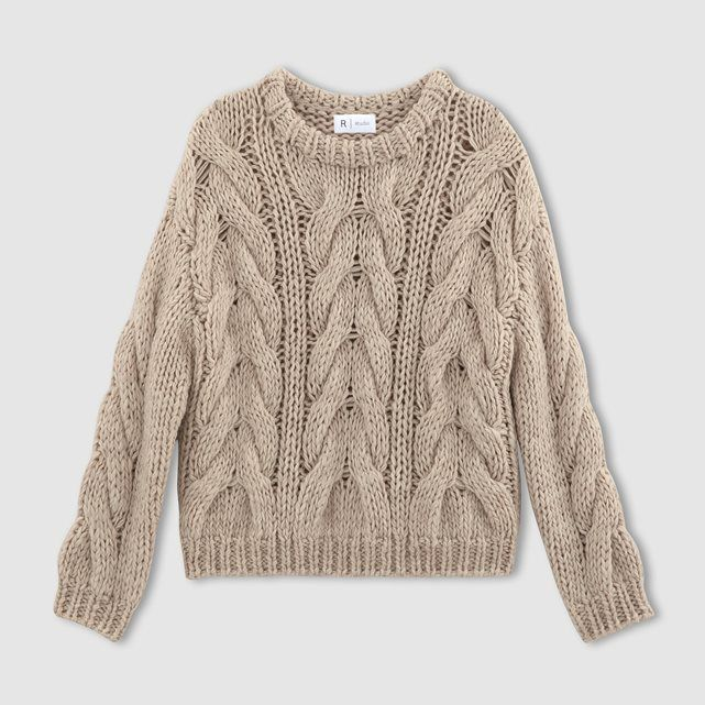 Image Chunky Cable Knit Jumpersweater R Studio Style File