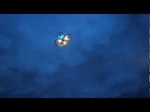 Parrot AR Drone Quadcopter Night Flying And Is It A UFO