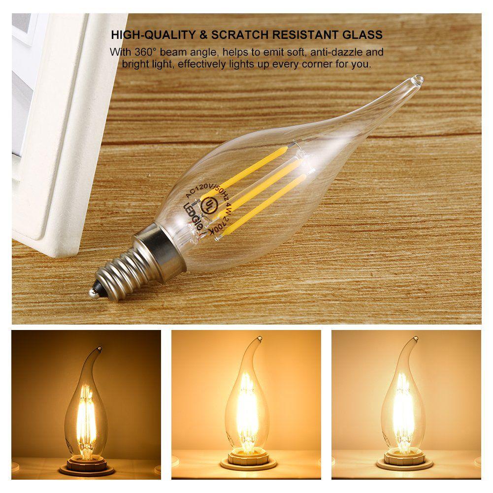 Ledgle 4w E12 Led Bulb Set Efficient Led Light Bulbs Dimmable