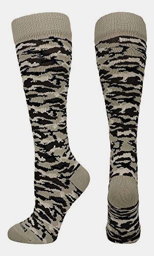 1a92b5d36 Camo  Pattern Over the Calf Socks (White Camo