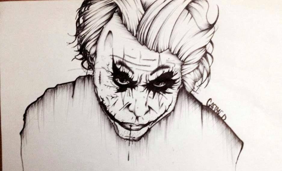 Joker Dessin Stylo Et Feutre Album 1 Pinterest