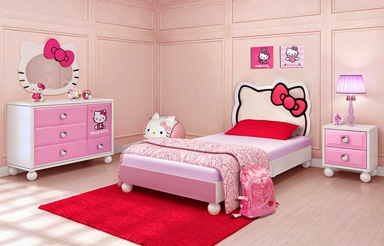 Bed cover my love anak - Gambar Kamar Tidur Anak Perempuan Tema Hello Kitty Jaaru