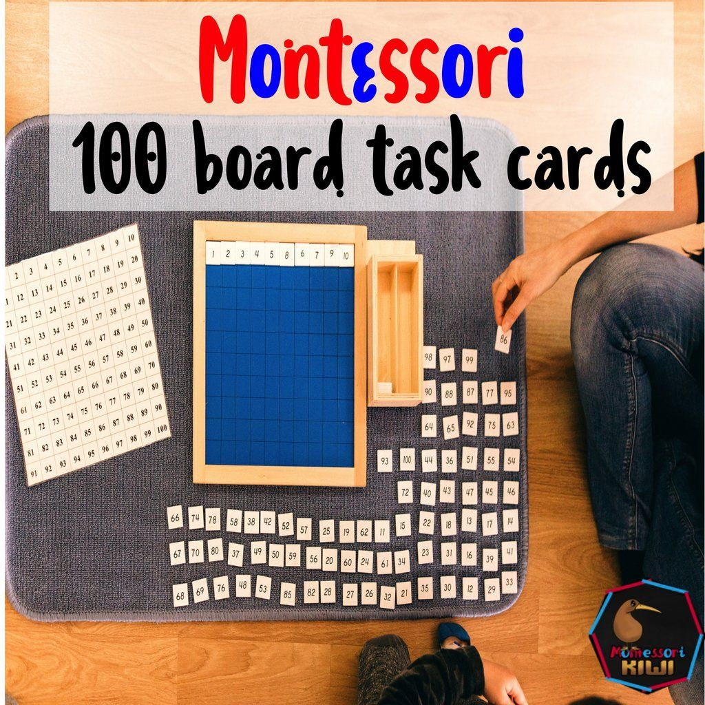 Montessori Math Hundreds Board Task Cards