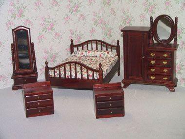 Dollhouse Furniture | Dollhouse Attic Furniture Sets (1/12th Scale)