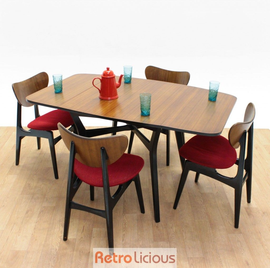 G Plan Tola Dining Table Set With Butterfly Backed Chairs 425