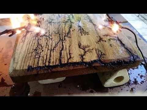 браширование древесины электричеством напряжением белье может