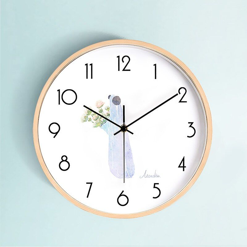 Creative Modern Wall Clock Wood Kitchen Living Room Silent Bedroom Relogio De Parede Gift Ideas Wall Watches Home Decor B50 In 2020 Wood Wall Clock Wall Clock Modern Living Room Kitchen