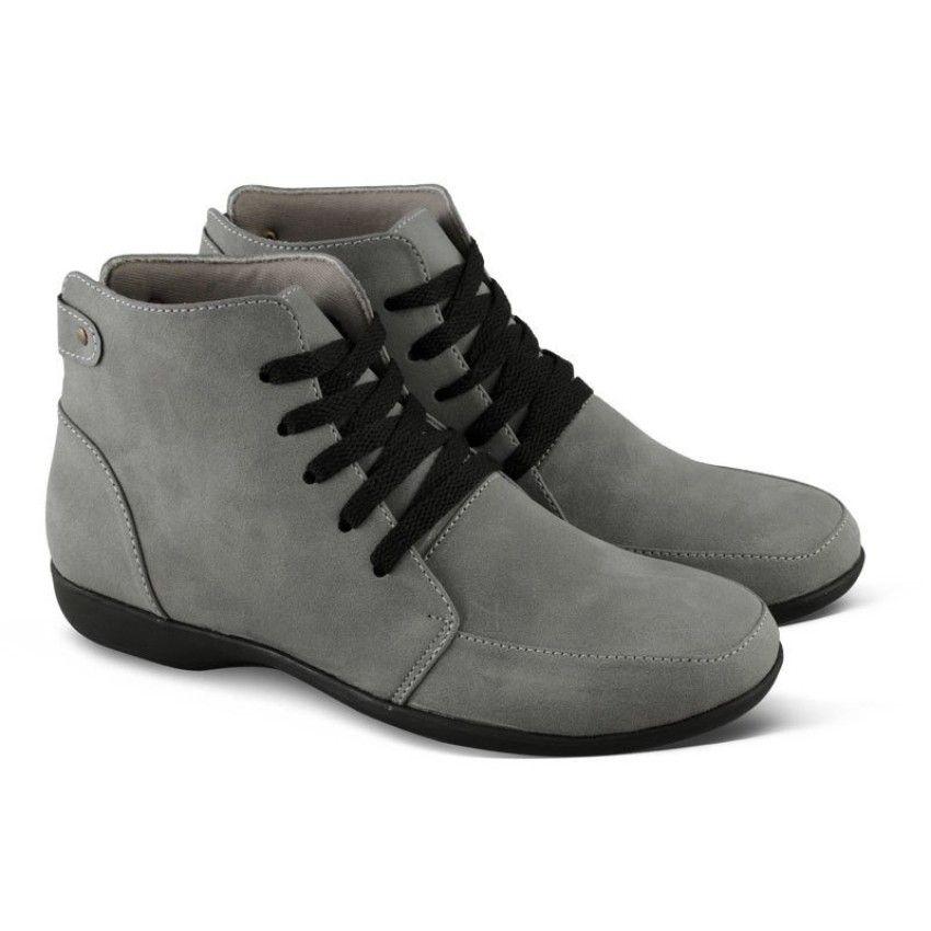 Varka Sepatu Boot Casual Sneakers Wanita 197 - Abu  49d5f859c5