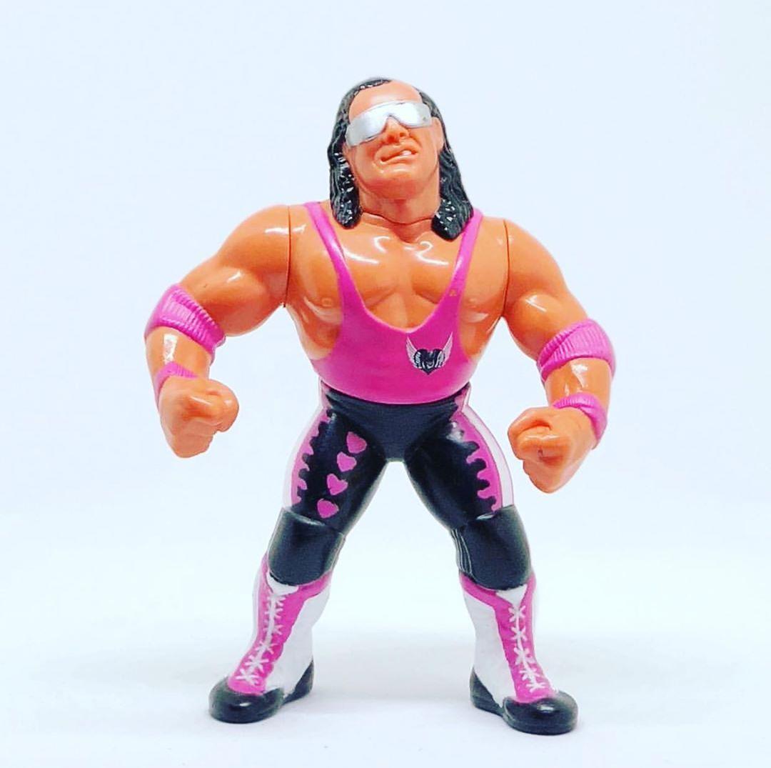 "This a a thing of beauty my favourite hasbro figure of all time. Series 8 Bret ""Hitman"" Hart  #wwfhasbros #wwfhasbrofigures #wwfhasbrocustoms #wwf #wrestlingfigures #wrestlemania #toys #actionfigures #wrestling #prowrestling #wwfgoldenage #wwfcustomhasbro #scratchthatfigureitch #wwfhasbro #majorwfpodcast #wrestlingcustom #brethart #brethitmanhart💗 #bestthereisbesttherewasbestthereeverwillbe #hitman #calgary #montrealscrewjob #champion #goat #wwfhasbroseries8"