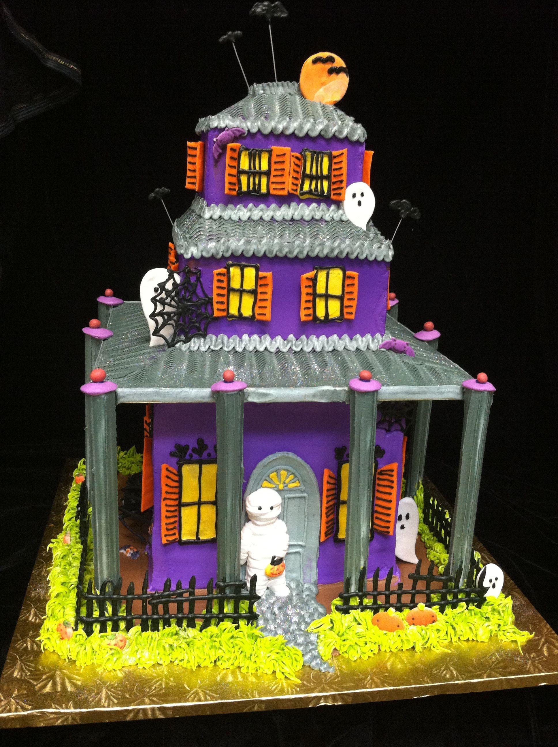 Phenomenal Halloween Haunted House Birthday Cake Haunted House Cake Funny Birthday Cards Online Inifofree Goldxyz