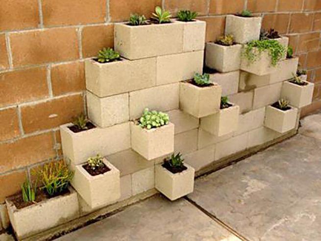Muebles de terraza de bloques de cemento buscar con for Bloques de cemento para jardin