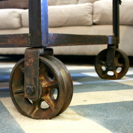 Vintage Casters Are Expensive Make Your Own Follow This Tutorial To Turn Almost Any Wheel Into Vintage Casters Vintage Industrial Furniture Diy Furniture Fix