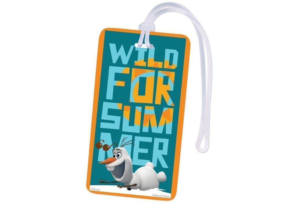 Details about Disney Frozen Olaf Luggage Tag Backpack ID Tag