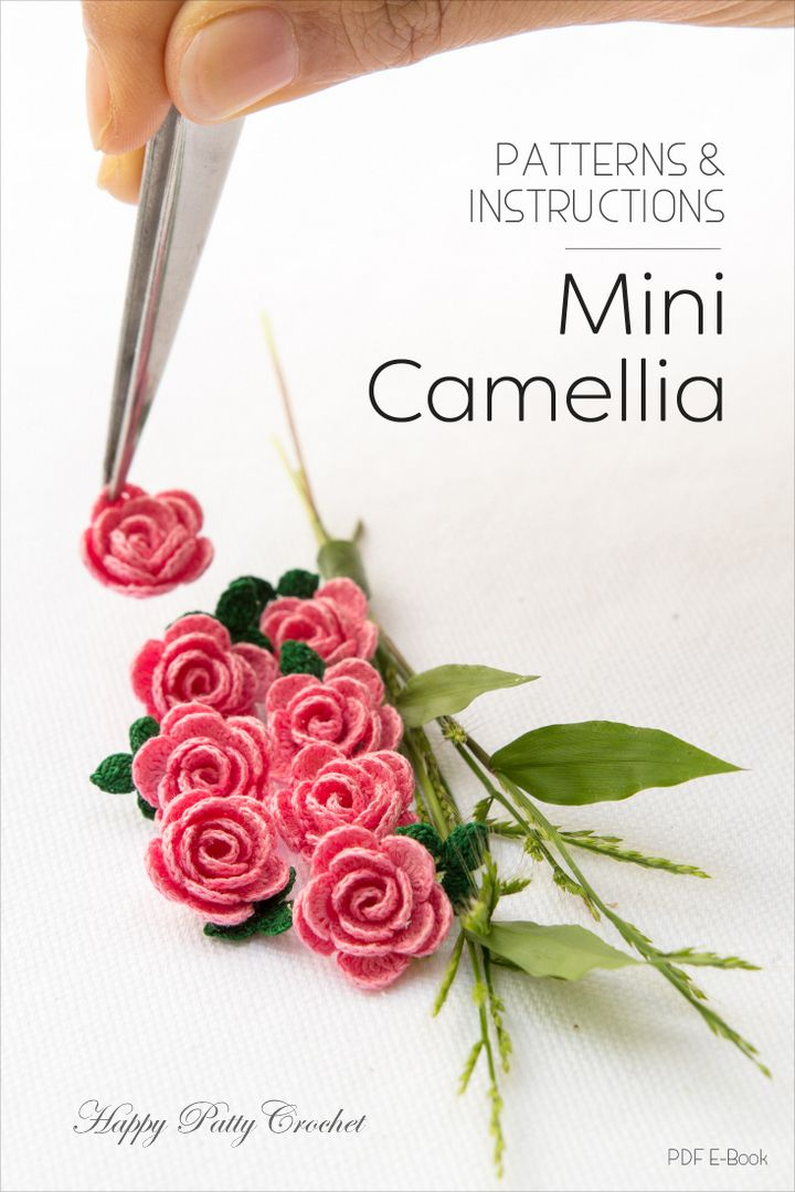 Mini Camellia pattern by Happy Patty Crochet | Flores, Ganchillo y ...