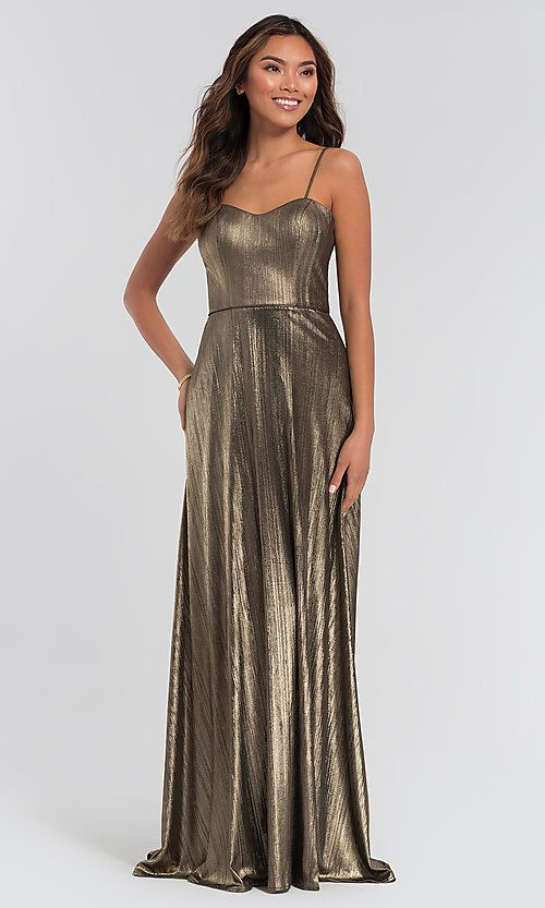 6cb842ad9750 Bridesmaid Dresses, Evening Dresses for Bridesmaids - KleinfeldBridalParty.  metallic bridesmaid dress by Kleinfeld. Style: KL-200063 Front Image