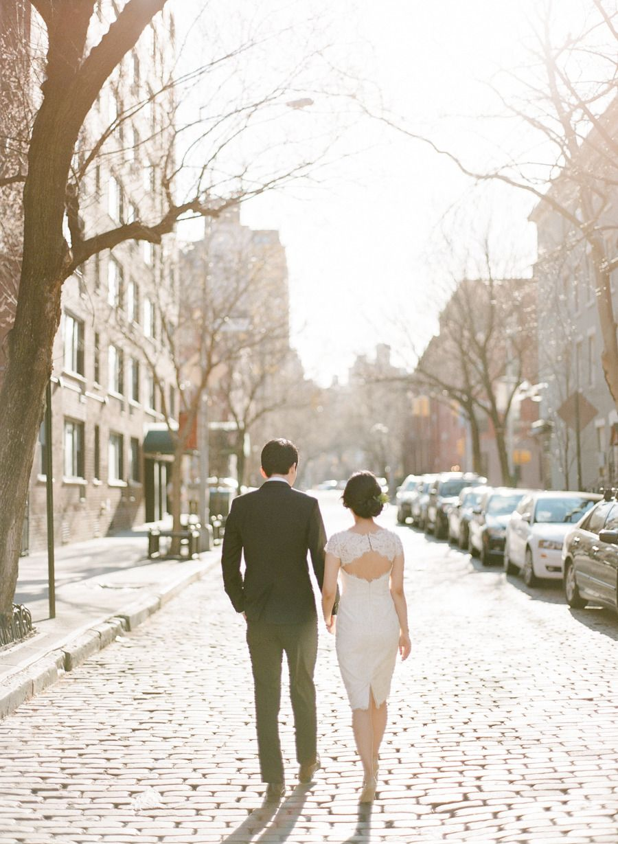 Photography: Rebecca Yale  - www.rebeccayalephotography.com/  Read More: http://www.stylemepretty.com/2015/05/26/romantic-early-morning-nyc-wedding-session/