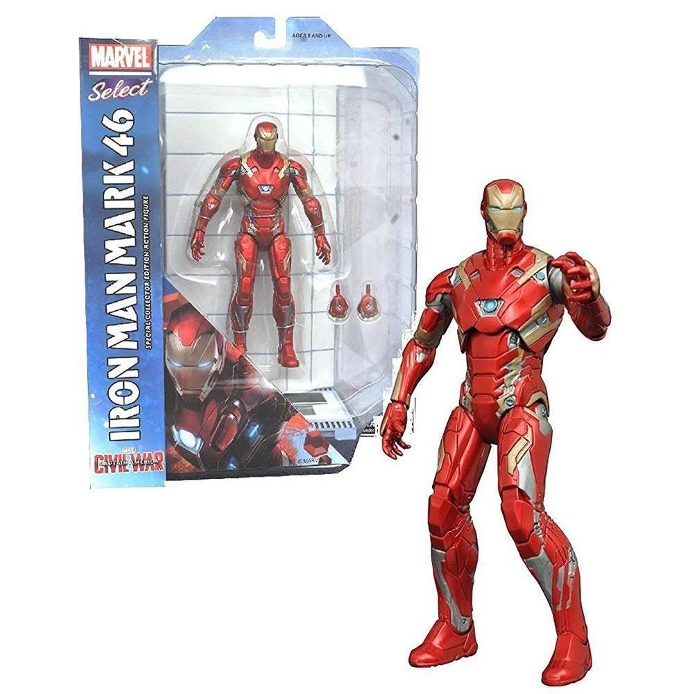 Marvel Select Captain America Civil War Iron Man mark 46 Diamond Select Avengers