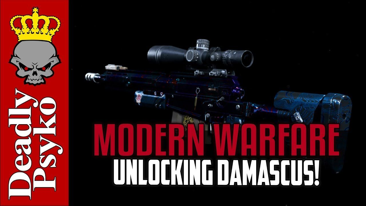 Modern Warfare Unlocking Damascus Plus Camo Showcase Modern Warfare Warfare Unlock