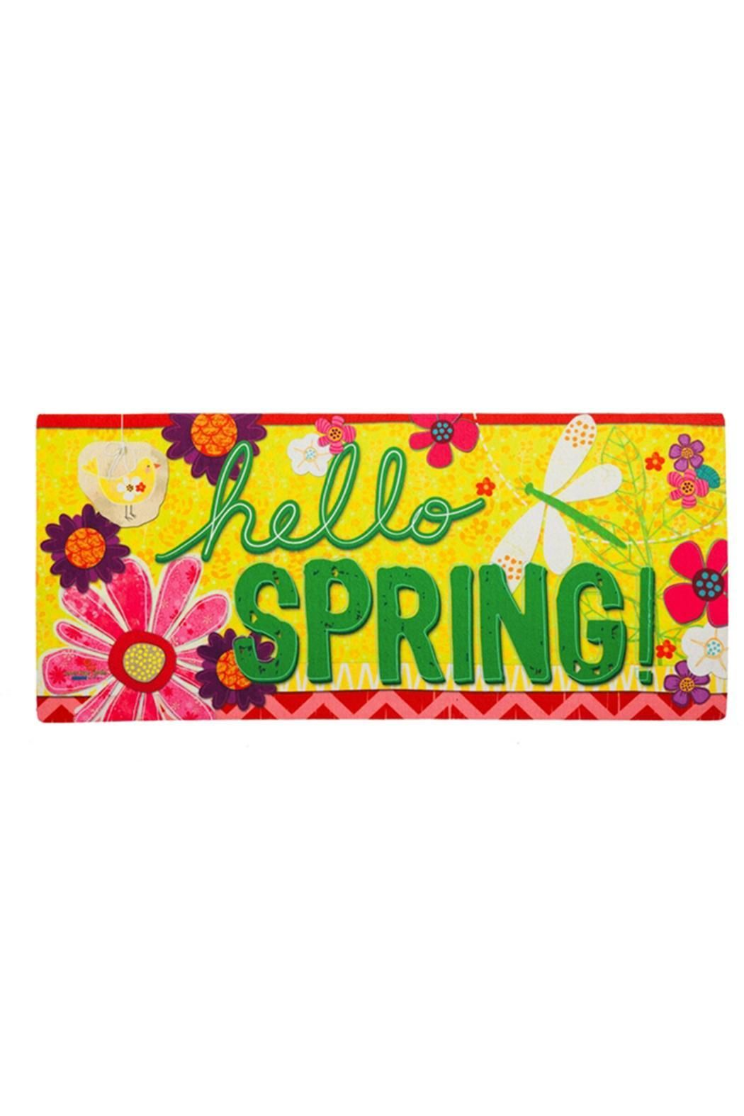 Evergreen Enterprises Hello Spring Mat Hello Spring Door Mat Evergreen Enterprises
