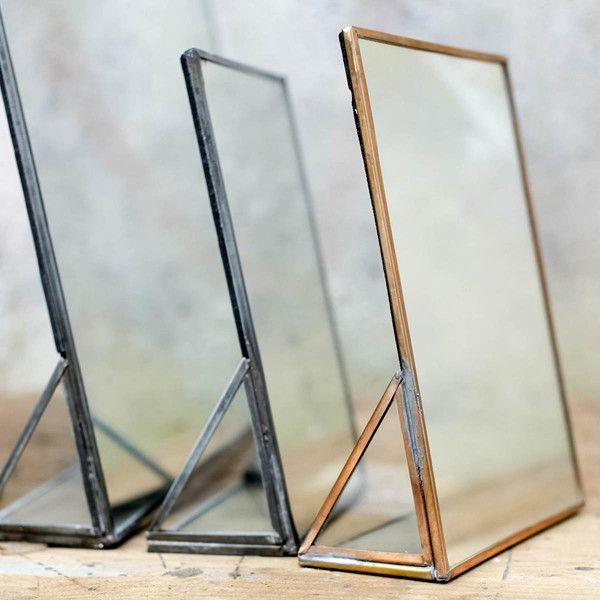 Kiko Table Mirror Brass and Zinc – DECORUM