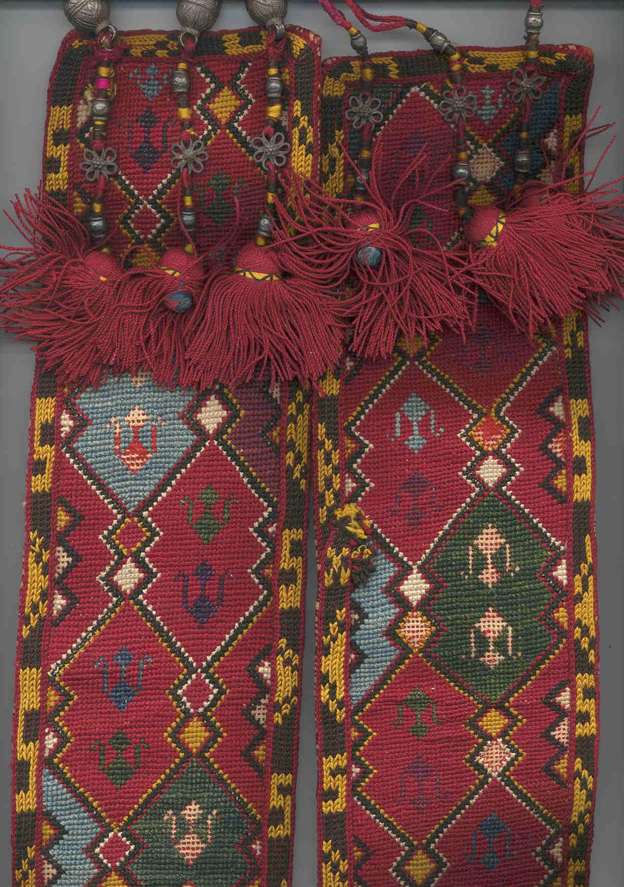 uzbek nomads Lakai belt, 2nd half 19th century, base metal clasp