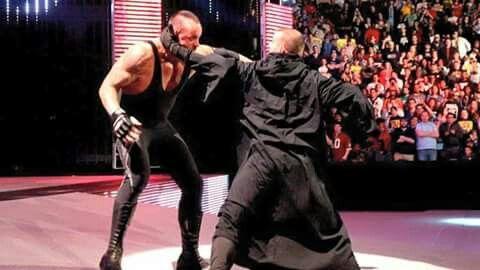 Undertaker vs CM Punk.  2 years ago