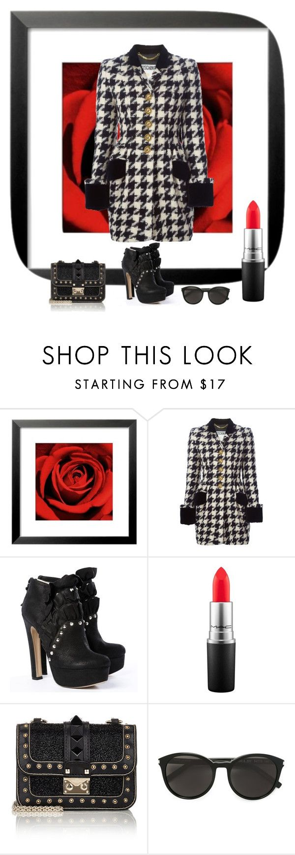 """214. Soon spring"" by kristina-lindstrom ❤ liked on Polyvore featuring Moschino, De Siena, MAC Cosmetics, Valentino, Yves Saint Laurent, women's clothing, women, female, woman and misses"