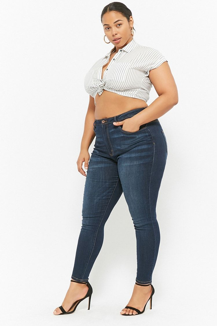 9ca9d134168 Product Name Plus Size High-Waisted Skinny Jeans