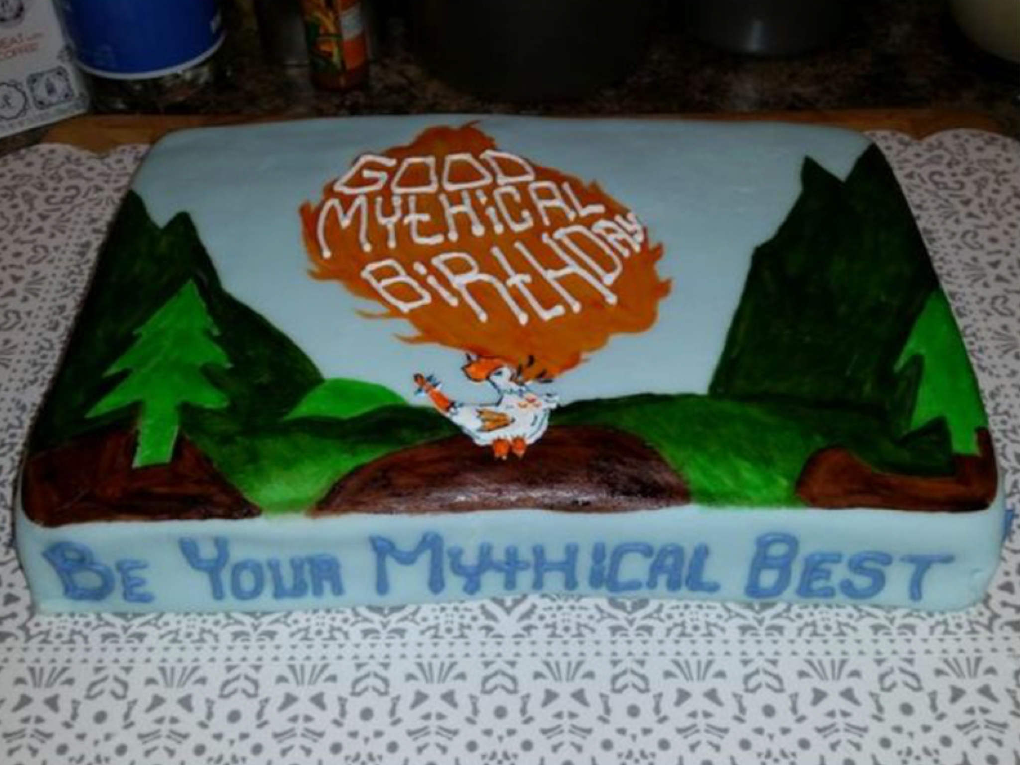 Good Mythical Morning Birthday Cake Rhett Link