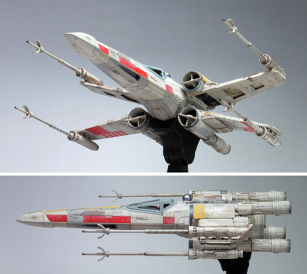 G Cube S Bandai X Star Wars 1 48 X Wing Starfighter Moving Edition A Beautiful Photo Review Links Star Wars Ships Star Wars Vehicles Star Wars Ships Design
