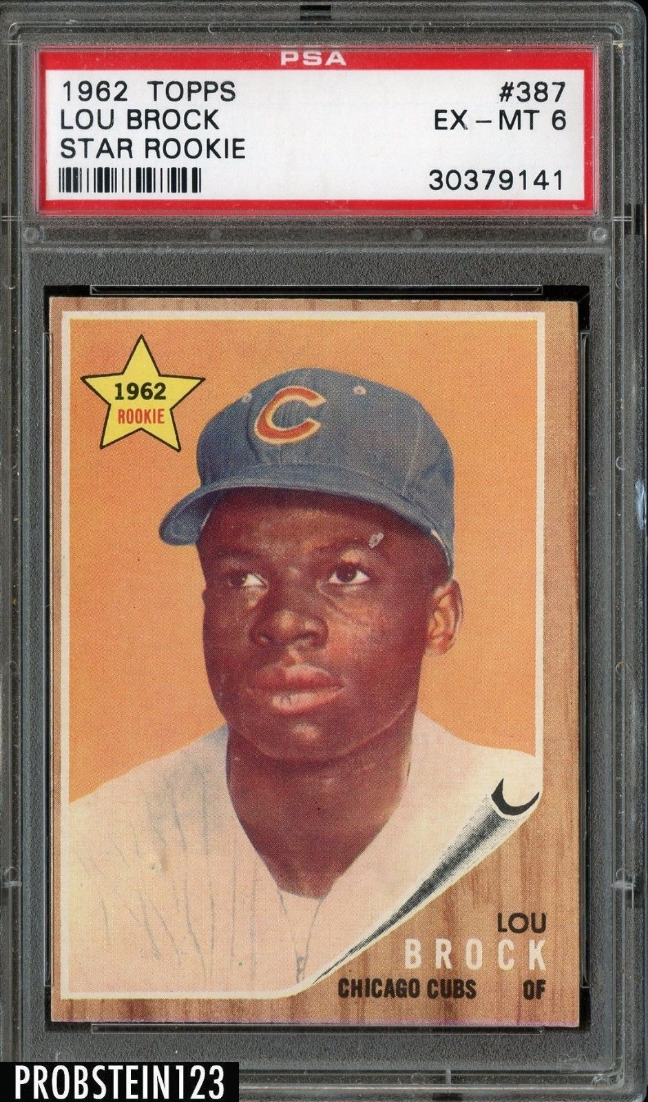 1962 Topps Star Rookie 387 Lou Brock Cubs Rc Hof Psa 6 Ex Mt Baseballcards With Images Baseball Cards Chicago Cubs Chicago Cubs Baseball