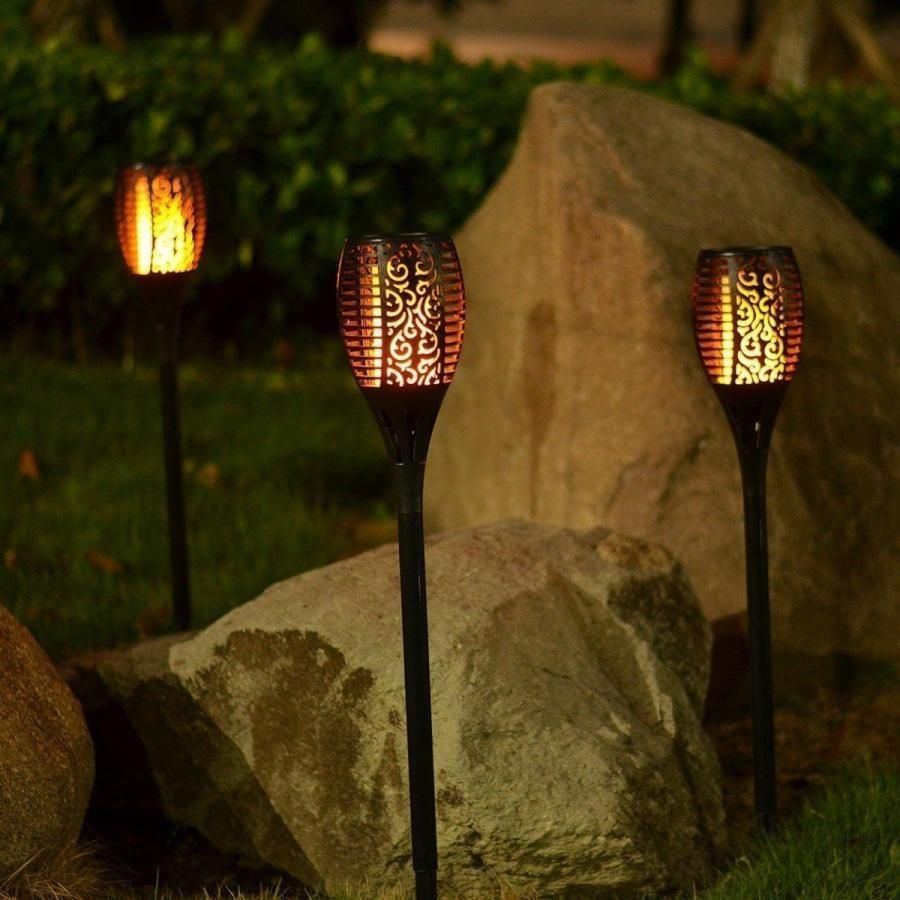 Outdoor Solar Flame Light Torch With Images Outdoor Solar Torch Light Led Light Strips