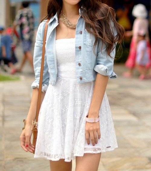 White dress for girls very dressy