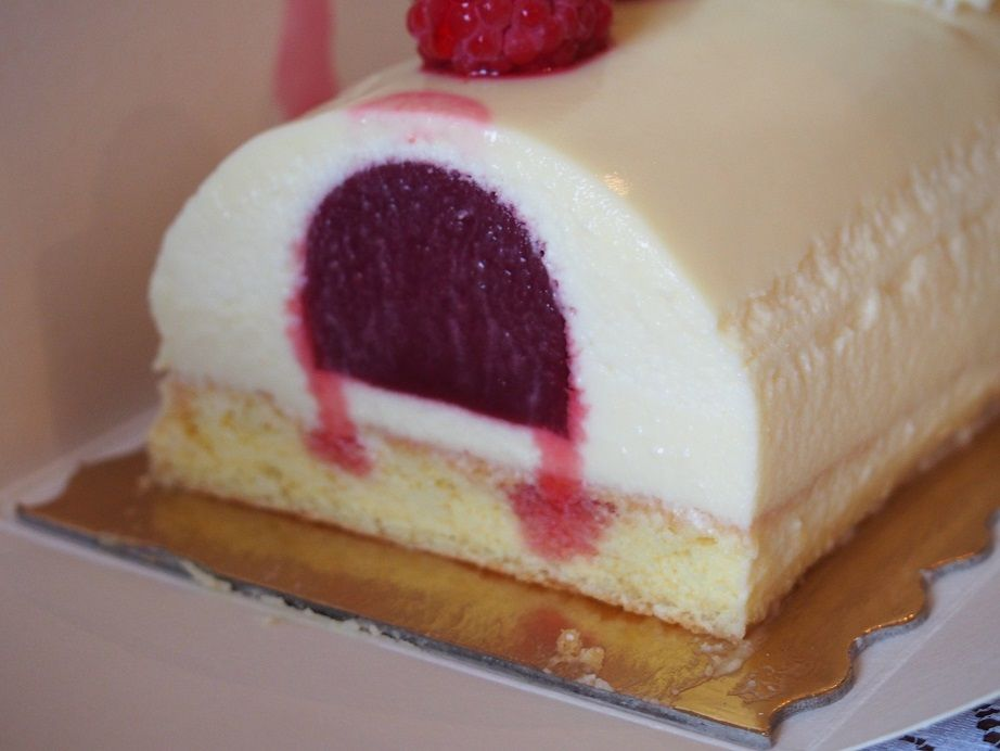 Recette buche noel framboise chocolat blanc