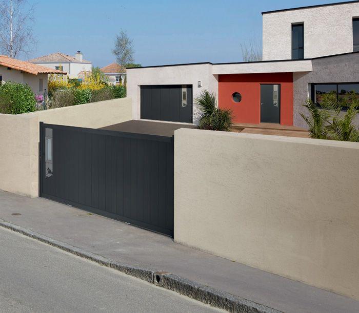 Porte d\u0027entrée aluminium Bel\u0027M, modèle Longitude railing Pinterest - choisir une porte d entree