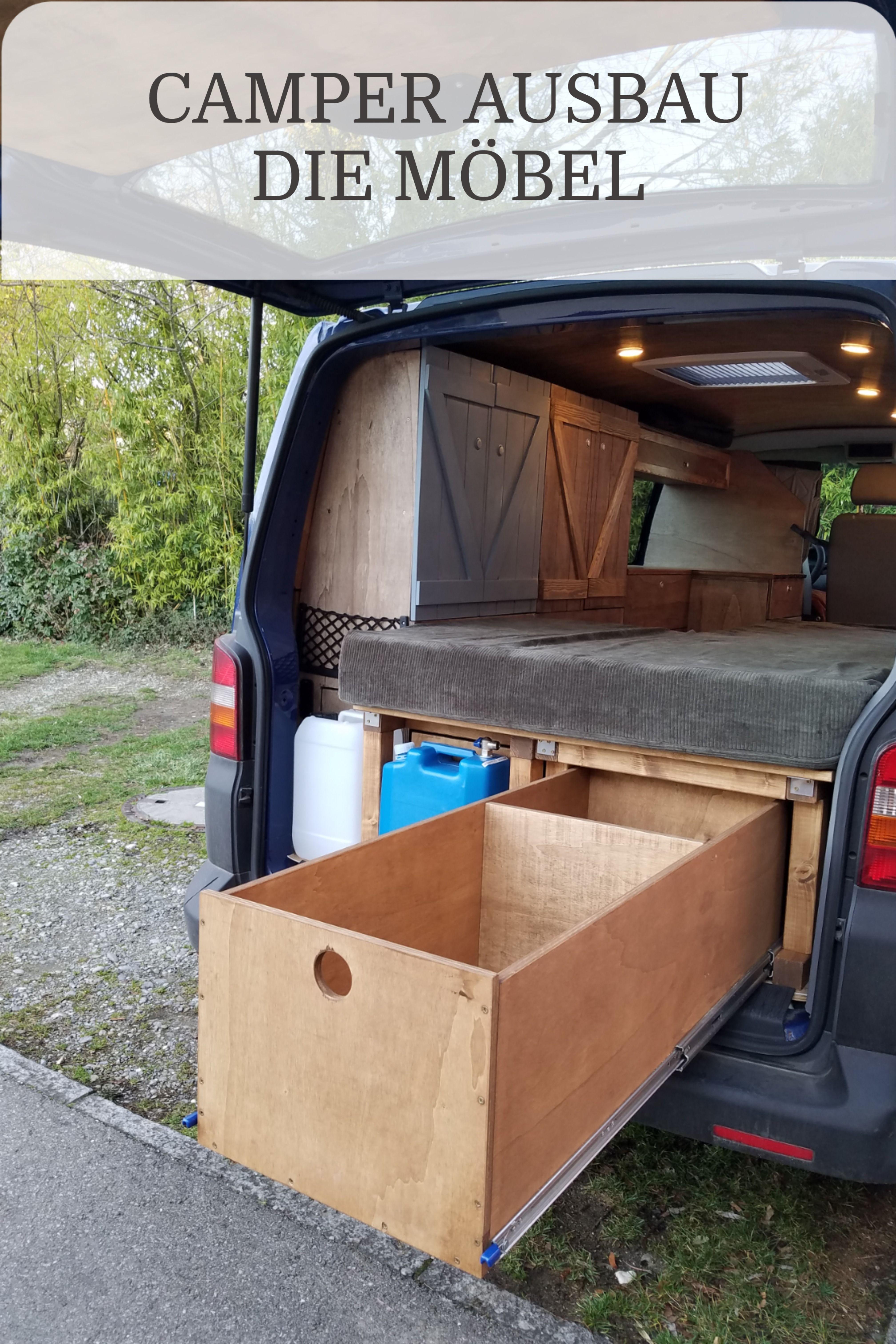 Möbel für den Camper selber bauen DIY Camper Ausbau 10