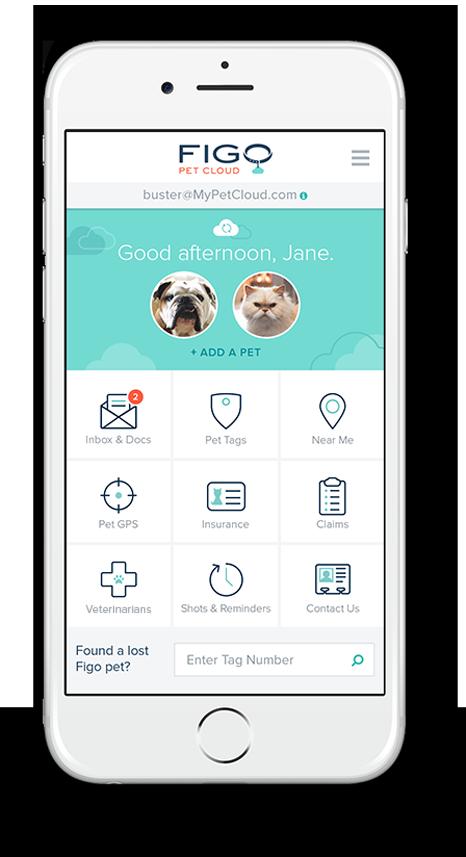 Figo Pet Cloud Mobile App On A White IPhone