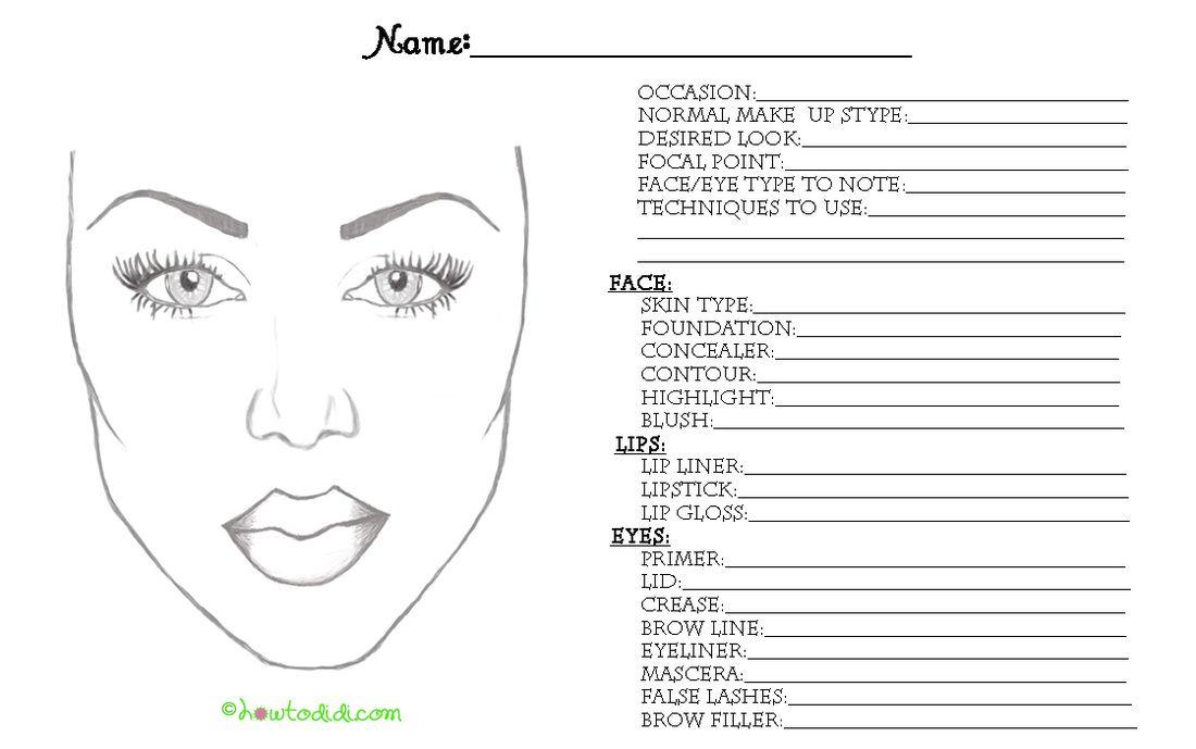 HowToDidi - beauty   Makeup face charts, Face chart, Face