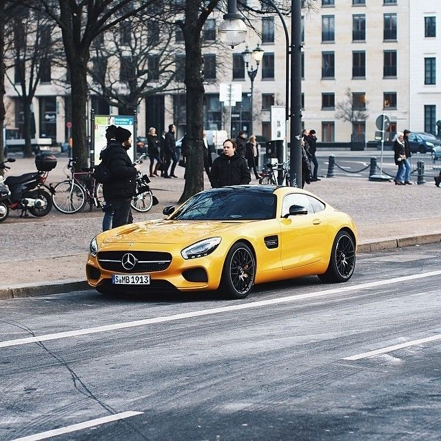 Adding Color To The Streets Of Berlin During Mercedes Benz Fashion Week With The With Images Mercedes Benz Mercedes Amg Gt S Mercedes Car